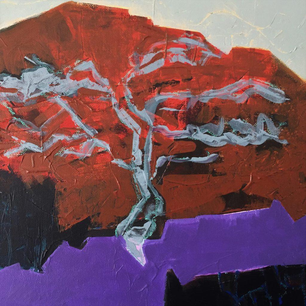 detail van schilderij Monument grove